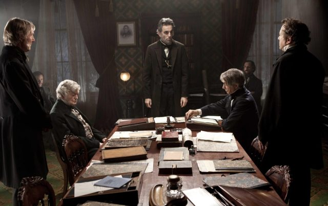 The movie is a powerful recreation of the abolition debate in early 1865.