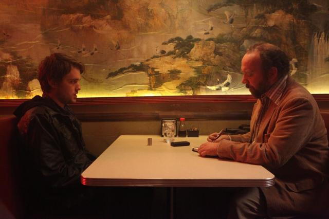 Like the novel, JDATE is framed in a flashback fashion, as Dave (Williamson) outlines his story to investigative reporter Arnie (Giamatti).