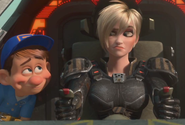 Wreck-It Ralph succeeds best, in terms of humour, with its back-up characters.