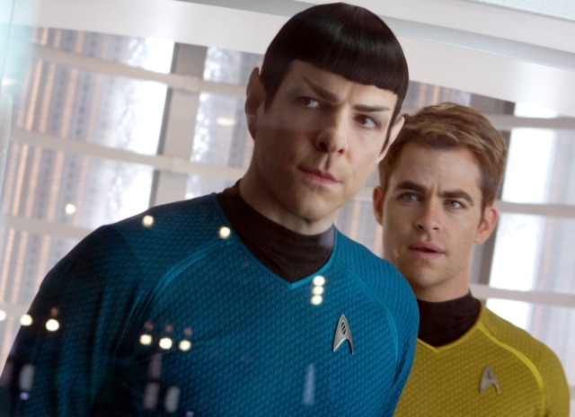The story is, as with the first, juxtaposed around the characters of Kirk (Pine) and Spock (Quinto).