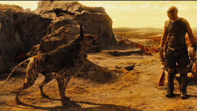 Another good CGI offering is Riddick canine companion which lifts some of the burden of carrying the film from Diesel in early stages.