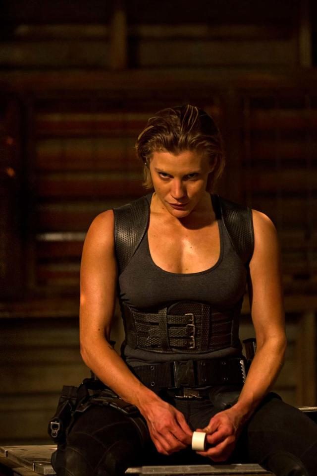 Katee Sackhoff is a throwaway character, defined almost entirely by her sexual orientation.