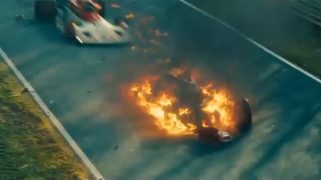The Nurburgring crash that nearly killed Lauda is brilliantly recreated as a critical moment in the story of Rush.