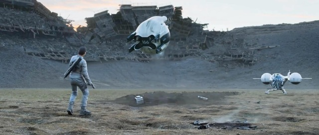 Oblivion is one of the few movies that feature drones prominently - and does it very well.