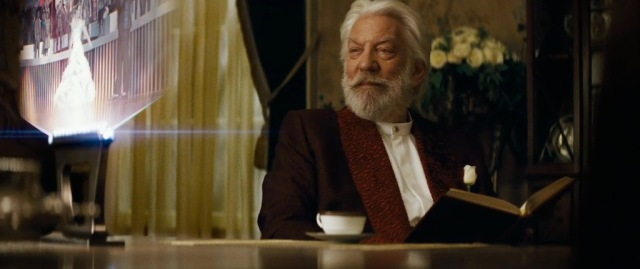 Donald Sutherland's delightfully malevolent President Snow is thankfully given more to do in Catching Fire.