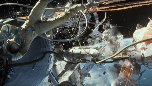 It is impossible to get across with screenshots how well crafted the CGI and 3D of Gravity is.
