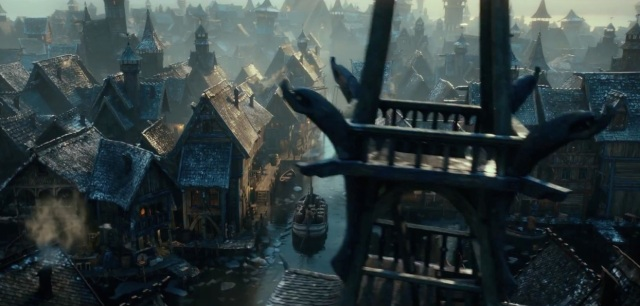 Lake-Town is a wonderfully created location, from CGI to sets.
