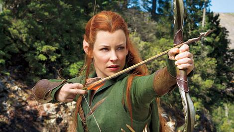 Evangeline Lilly does just fine as the invented Tauriel, but one wishes she had been given better material to work with.