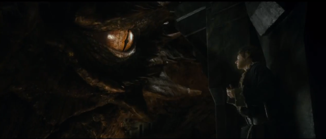 """There you are..."" Cumberbatch does amazing work as the titular dragon."