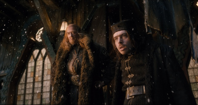 Stephen Fry and Ryan Gage are wonderfully malicious as the Master of Lake-Town and his servant Alfrid.