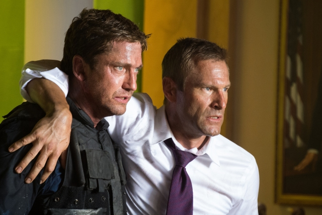 Gerard Butler must save his estranged wife Aaron Eckhart from a cunning German terrorist...Wait.