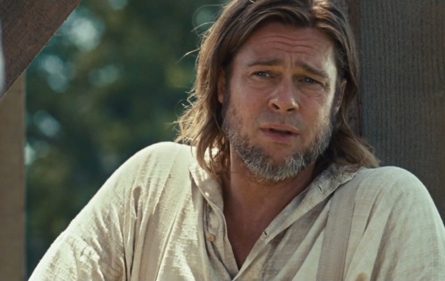 Pitt is more notable for his facial hair choices than his acting ability in 12 Years A Slave.