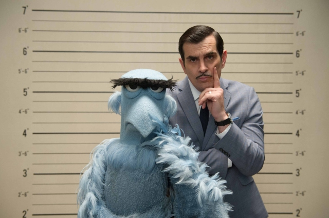 Ty Burrell and Sam Eagle are easily one of the best parts of Muppets Most Wanted.