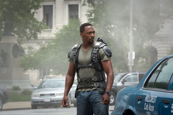 Anthony Mackie's debut marks some of the films best moments, from his back and forth with Rodgers to his flying.