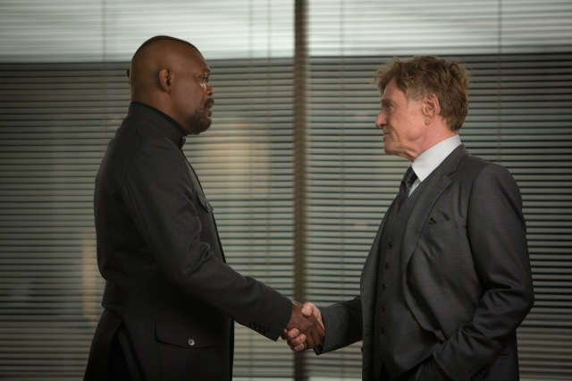 Jackson and Redford essentially give it their all in some of The Winter Soldier's best roles.