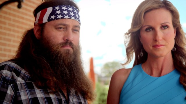 I noticed the promotional material heavily emphasises the brief cameo of one of the appalling Duck Dynasty guys.
