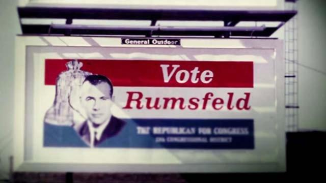 Rumsfeld is more than happy to talk about his past, but not so much on the present.