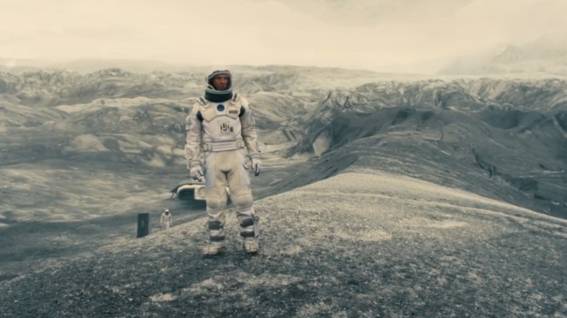 Matthew McConaughey goes down the rabbit hole in Interstellar.