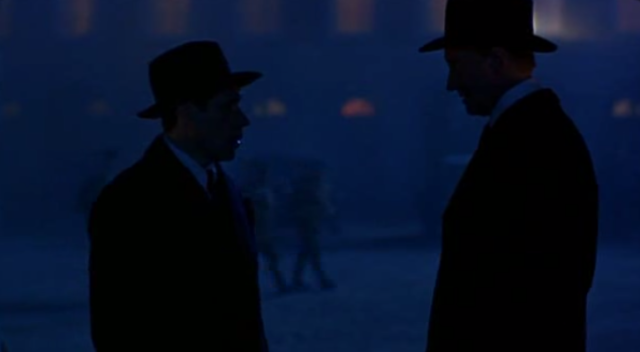 Soames is the film's most able villain, and Broy is his main victim.