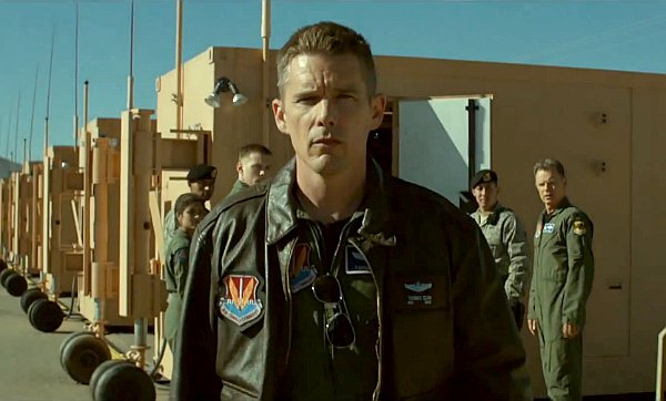 Ethan Hawke spends a lot of time staring in this film.