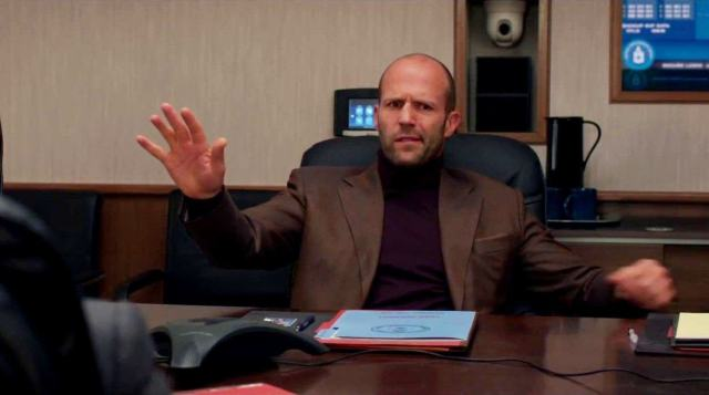 Statham is clearly having a whale of a time here.