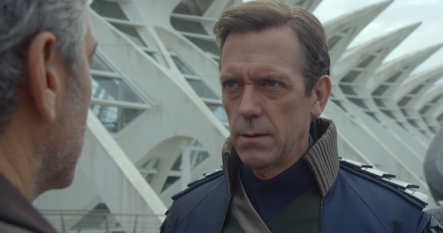 Hugh Laurie's Nix is the focal point of the films aggressively irritating message.