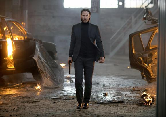 """Keanu Reeves is back in """"One man against many"""" mode."""