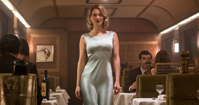 Seydoux's Swann starts out good, but nosedives in terms of agency by the time she shows up in this number.