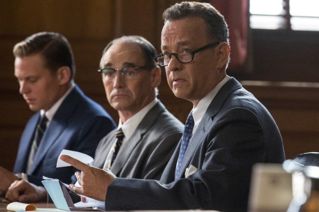 Hanks is fine, but is actually outdone by Rylance's relaxed portrayal of Soviet spy Rudolph Abel.