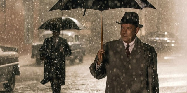 Tom Hanks gets caught up in Cold War espionage in Spielberg's latest.